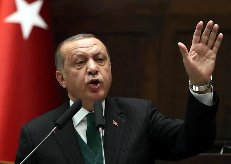 President Recep Tayyip Erdogan said the Turkish army and allied Syrian rebels wanted to oust the Syrian Kurdish militia the YPG from all the towns they control near the Turkish border