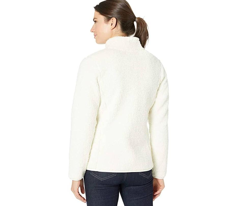Amazon Essentials Women's Polar Fleece Lined Sherpa Full-Zip Jacket (Photo: Amazon)