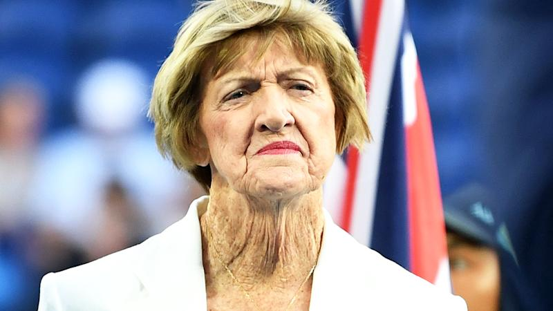 Margaret Court, pictured here during a Tennis Hall of Fame ceremony at the Australian Open.