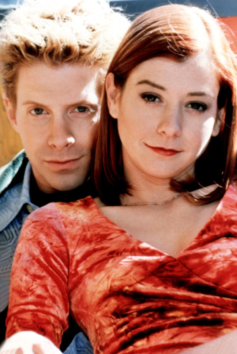 Alyson Hannigan and Seth Green in a promotional photo for 'Buffy the Vampire Slayer' (20th Century Fox Film Corp / Everett Collection)