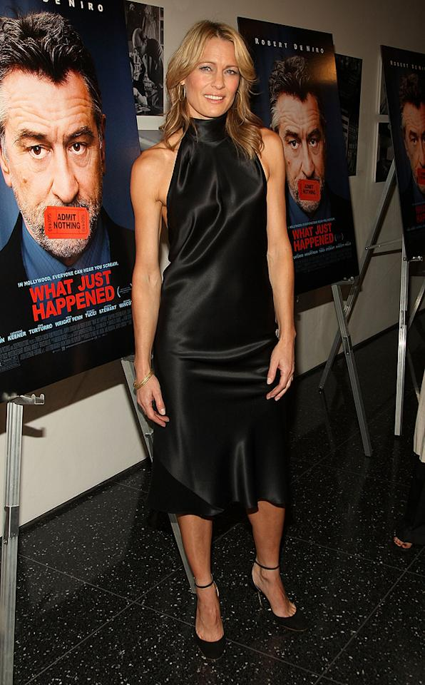 "<a href=""http://movies.yahoo.com/movie/contributor/1800019047"">Robin Wright Penn</a> at the New York premiere of <a href=""http://movies.yahoo.com/movie/1809739709/info"">What Just Happened</a> - 10/01/2008"