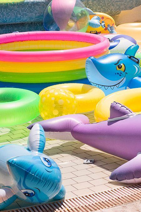 """<p>You'll find <a href=""""https://www.dollargeneral.com/seasonal/outdoor-living/beach-pool.html"""" rel=""""nofollow noopener"""" target=""""_blank"""" data-ylk=""""slk:pool floats and games"""" class=""""link rapid-noclick-resp"""">pool floats and games</a> for much less than the seasonal aisle at other drugstores — and they're available all year round. <strong>Note: </strong>Because they are likely lesser quality, it's best to skip using these without a backup floatation device. </p>"""