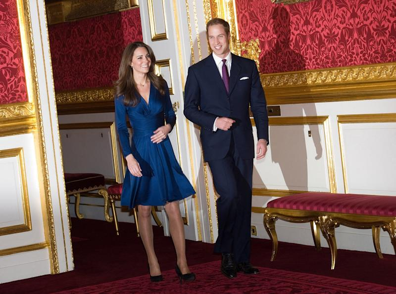 Kate has become known for her love of glossy tights - Wireimage