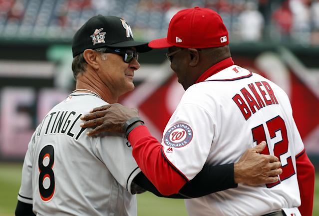 Dusty Baker is one of the three minority managers in MLB. (AP)