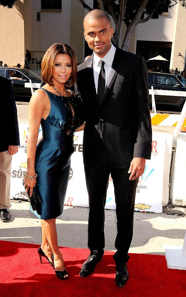 "Tony Parker looked debonair as always in a slim, mod suit while escorting his beautiful wife Eva. The ""Desperate Housewife"" hosted the event, which honors Latinos in entertainment. Gregg DeGuire/<a href=""http://www.wireimage.com"" target=""new"">WireImage.com</a> - August 17, 2008"