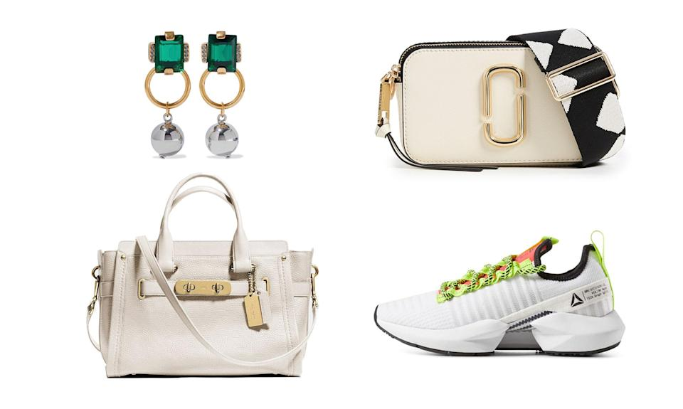 Shop all the best Black Friday & Cyber Monday fashion deals across the web. (Photos, from top left, clockwise: Marni/the Outnet, Marc Jacobs/Shopbop, Reebok, Coach)
