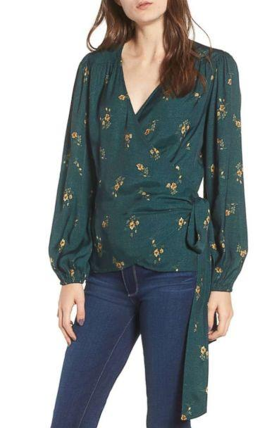 PHOTO: Hinge Floral Spot Wrap Top (Nordstrom)