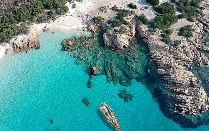 As of today, Sardinia has been designated a white zone, spurring hopes for a bumper tourism season - Getty