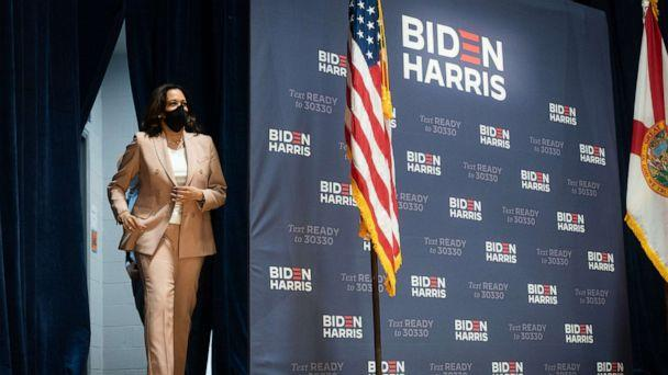 PHOTO: Democratic Vice-Presidential candidate Sen. Kamala Harris participates in Community Conversation at FMU in Miami, Sept. 10, 2020. (Lawrence Jackson/Biden via ZUMA Wire via Newscom, FILE)