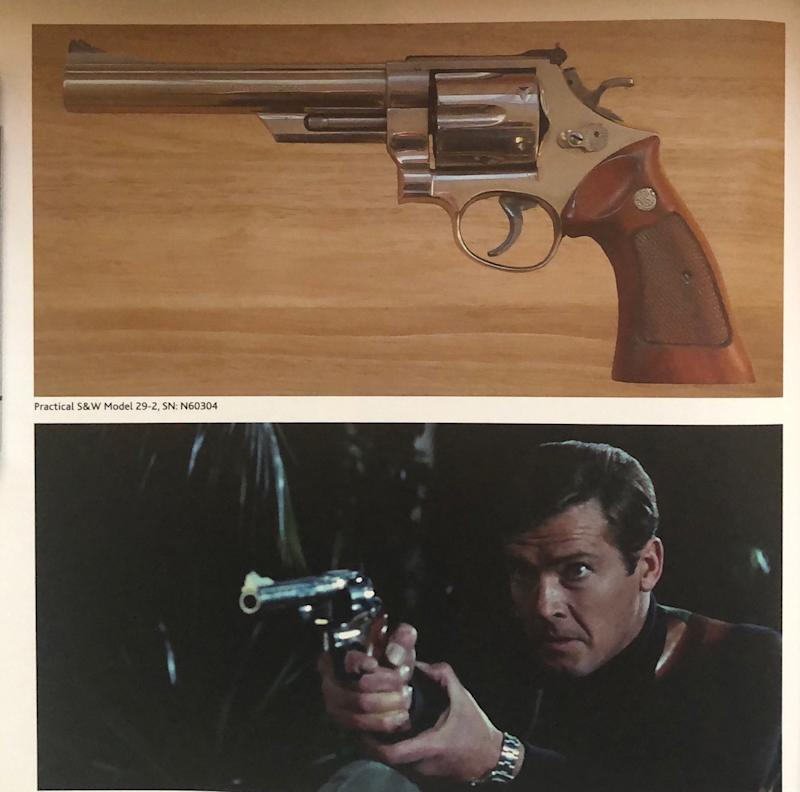 A unique Smith and Weston 44 Magnum used by Roger Moore in Live and Let Die was also among the stolen firearms (Metropolitan Police/PA)