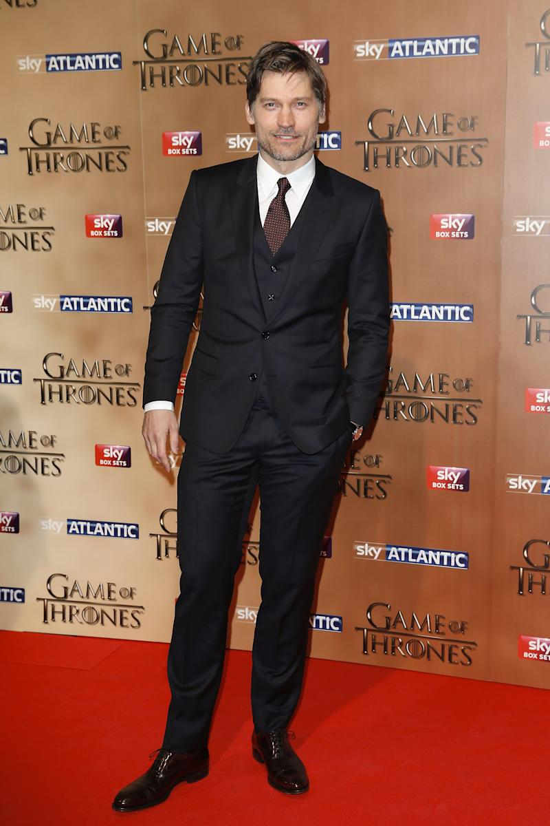 Nikolaj Coster-Waldau at the premiere of Game of Thrones season five in London, England, March 2015.