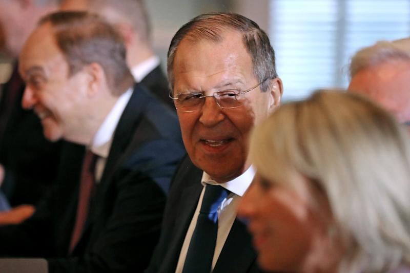 Russian Foreign Minister Sergei Lavrov tangled with U.S. Secretary of State Mike Pompeo at the State Department on Dec. 10.