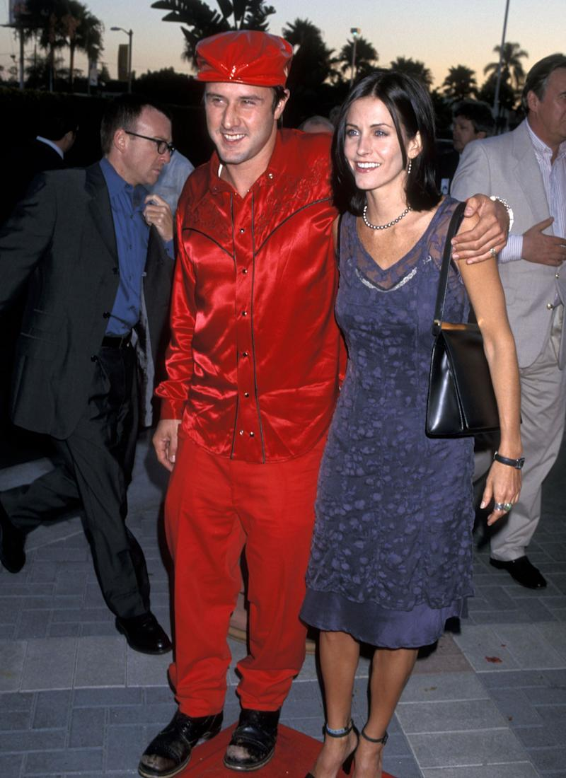 Actor David Arquette and actress Courteney Cox attend the 'Snake Eyes' Hollywood Premiere on July 30, 1998, at Paramount Studios in Hollywood, California. (Photo by Ron Galella, Ltd./Ron Galella Collection via Getty Images) (Photo: Ron Galella, Ltd. via Getty Images)