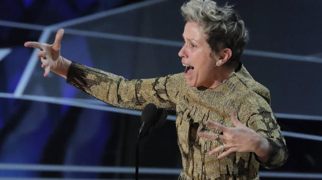 Frances McDormand Calls On Female Nominees To Stand During Oscar Speech