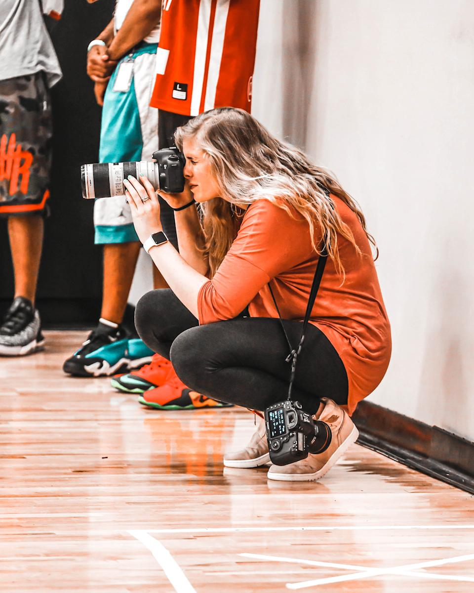 Bri Lewerke started taking photos during the Nike EYBL in 2016. (Photo taken by Kendal Shell)