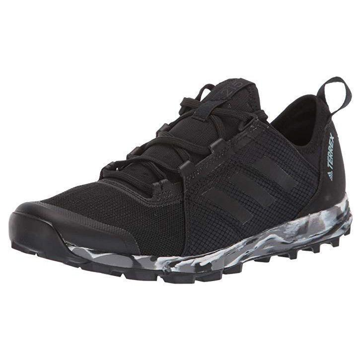 """<p><strong>adidas outdoor</strong></p><p>amazon.com</p><p><strong>49.95</strong></p><p><a href=""""http://www.amazon.com/dp/B07SGBZWFJ/?tag=syn-yahoo-20&ascsubtag=%5Bartid%7C10055.g.29389536%5Bsrc%7Cyahoo-us"""" rel=""""nofollow noopener"""" target=""""_blank"""" data-ylk=""""slk:Shop Now"""" class=""""link rapid-noclick-resp"""">Shop Now</a></p><p>When running on snowy trails, a clunky boot will just slow you down. These running sneakers from Outdoor Adidas are designed to provide ample traction while still being lightweight. The upper, although not waterproof, is designed to be <strong>breathable, so you don't overheat while exercising</strong>.</p>"""