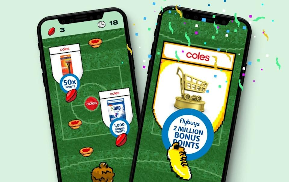 Flybuys Footy game. Source: Supplied