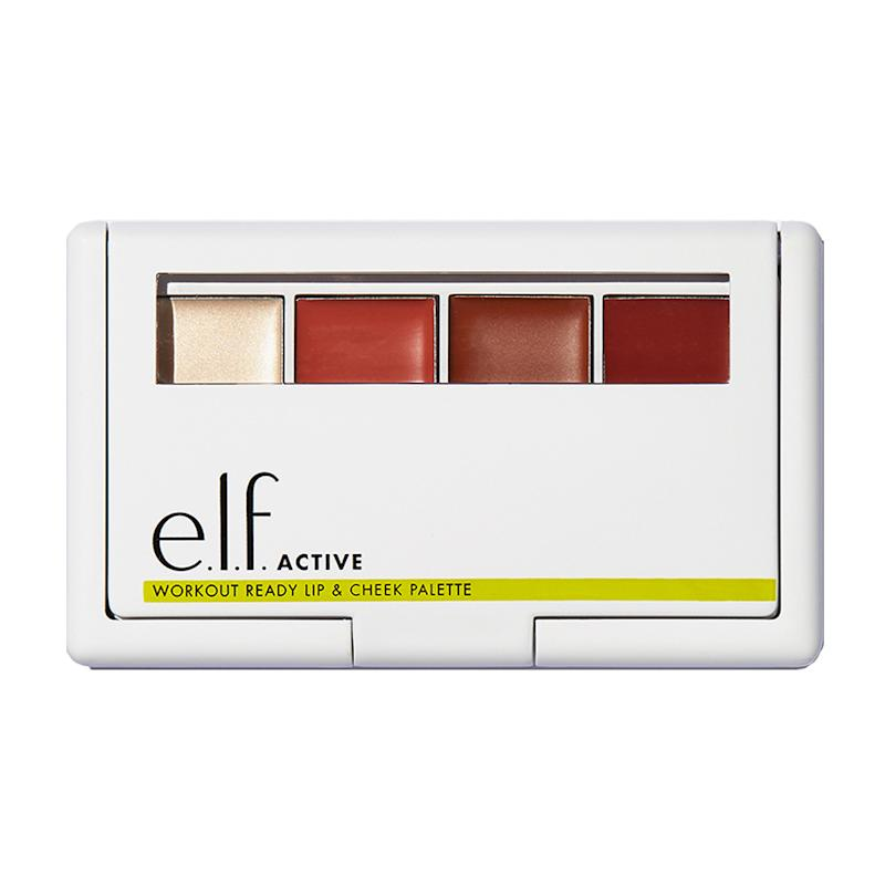 The E.l.f. Active Workout Ready Lip & Cheek Palette has highlighter and blush combos that were made for your next workout. (Photo: e.l.f.)