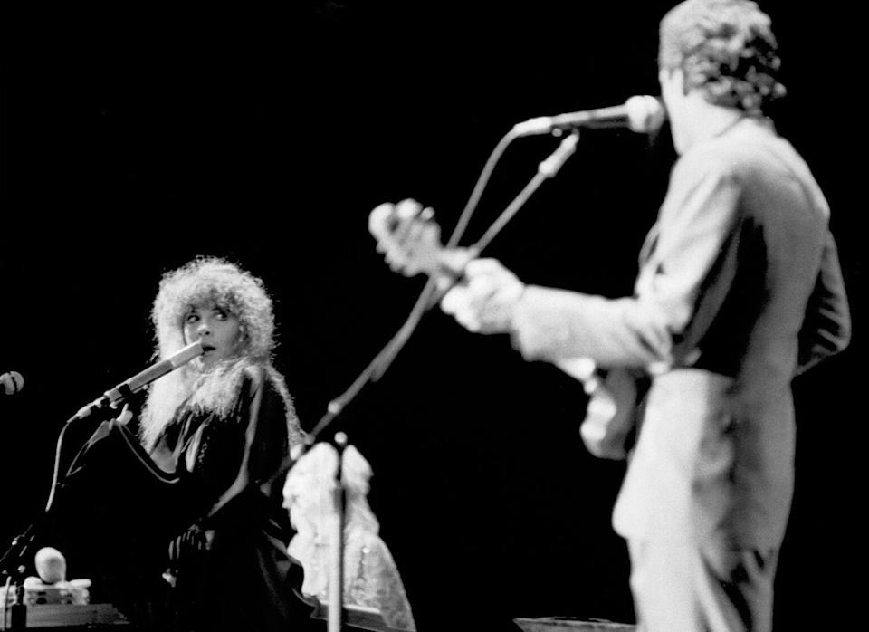 """<p>Fleetwood Mac was famous for not only their music, but also their tangled love lives. But out of all of that drama, they created several iconic songs, including """"Go Your Own Way,"""" which Lindsey Buckingham <a href=""""https://entertainment.time.com/2010/08/25/top-10-angry-breakup-songs/slide/go-your-own-way-by-fleetwood-mac/"""" rel=""""nofollow noopener"""" target=""""_blank"""" data-ylk=""""slk:wrote as a breakup message directed at Stevie Nicks"""" class=""""link rapid-noclick-resp"""">wrote as a breakup message directed at Stevie Nicks</a>. </p>"""