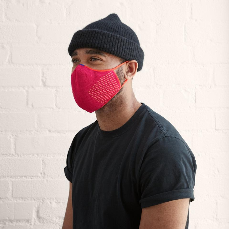 """<p>The ear loops on these <product href=""""https://rothys.com/masks/products/the-mask?color=blue-and-pink"""" target=""""_blank"""" class=""""ga-track"""" data-ga-category=""""Related"""" data-ga-label=""""https://rothys.com/masks/products/the-mask?color=blue-and-pink"""" data-ga-action=""""In-Line Links"""">Rothy's Face Masks</product> ($25, set of two) make them easy to put on.</p>"""
