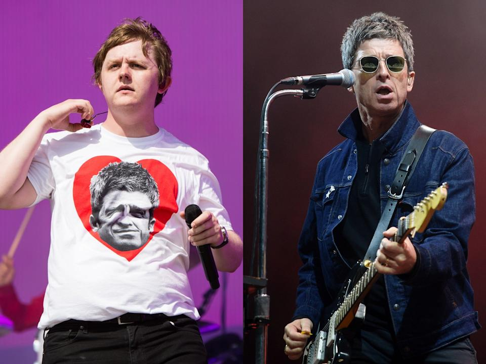 Lewis Capaldi (left) has described the moment he meant Noel Gallagher during the pair's public feud (Harry Durrant/Rune Hellestad/Getty Images)