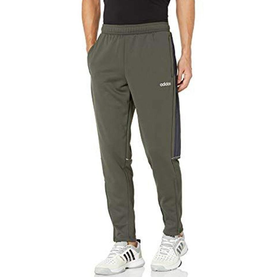 """<p><strong>adidas</strong></p><p>amazon.com</p><p><a href=""""https://www.amazon.com/dp/B083JWHHMQ?tag=syn-yahoo-20&ascsubtag=%5Bartid%7C10054.g.36791822%5Bsrc%7Cyahoo-us"""" rel=""""nofollow noopener"""" target=""""_blank"""" data-ylk=""""slk:BUY IT HERE"""" class=""""link rapid-noclick-resp"""">BUY IT HERE</a></p><p><del>$45.00</del><strong><br>$31.50 (30% OFF)</strong></p><p>Once the temperature drops, slip into these cozy pants, which are specially designed to keep you warm.</p>"""