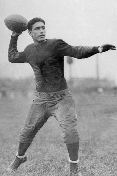 FILE - This is a Sept. 18, 1926, file photo showing Cleveland Bulldogs quarterback Benny Friedman. The first season, 1920, the American Professional Football Association had 14 teams, including the Bulldogs. (AP Photo/FIle)