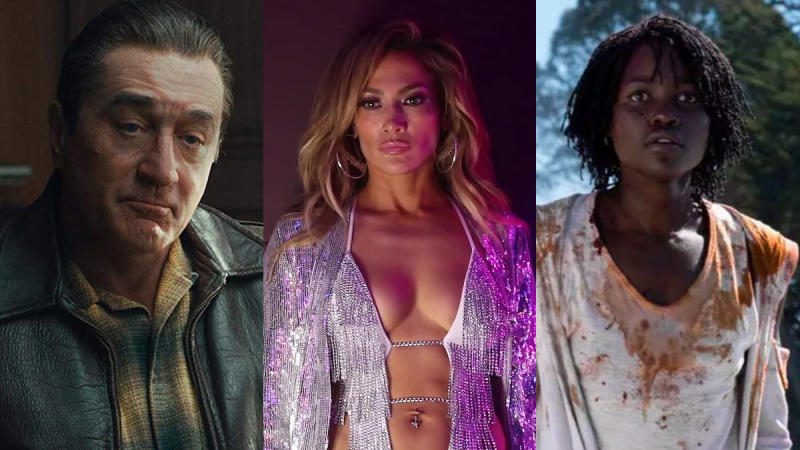 Robert De Niro, Jennifer Lopez and Lupita Nyong'o were among the major Oscars snubs. (Credit: Netflix/STX/Universal)