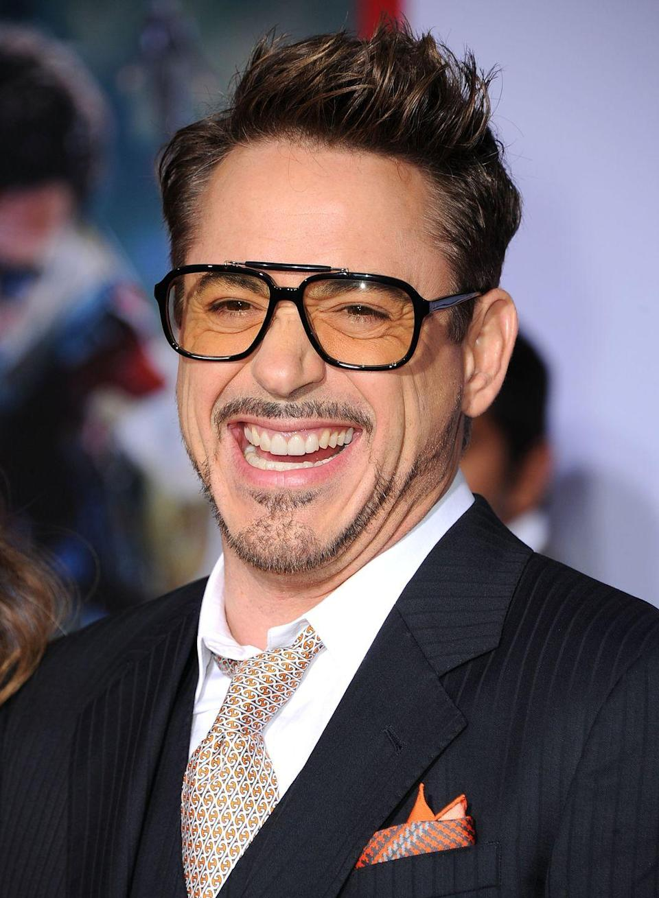 <p>Iron Man himself has long been known to sport the iconic Tony Stark goatee, on and off screen. His thin mustache is the essential connector for the whole look. </p>