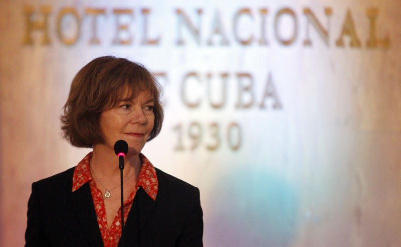 Tina Smith, shown here on a visit to Cuba in June, is a former vice president of the Midwest regional Planned Parenthood. (Ernesto Mastrascusa/LatinContent via Getty Images)