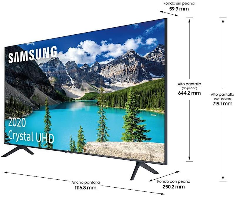 Dimensiones del Samsung Crystal 2020, de oferta destacada en Amazon Prime Day