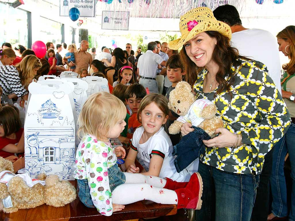"Joely Fisher hopes there are enough cuddly teddy bears to go around. Donato Sardella/<a href=""http://www.wireimage.com"" target=""new"">WireImage.com</a> - March 9, 2008"