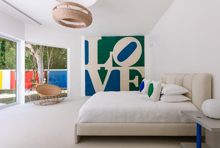 """""""I found [it] at a Sotheby's auction and it literally looks like it was made for the space,"""" she says of the wall hanging. """"I'm in love with it, and it's going to be hard to part with but I'm sure the buyer of this home will appreciate it as much as I do! Let's hope!"""""""