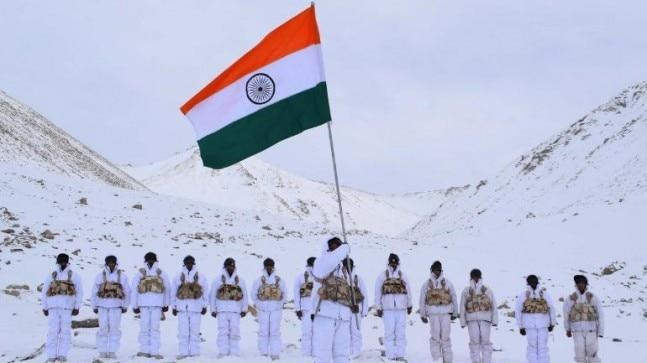 This picture -- a tableau of courage and patriotism -- is a magnificent tribute to India on Republic Day. India's Constitution came into effect on January 26, 1950.