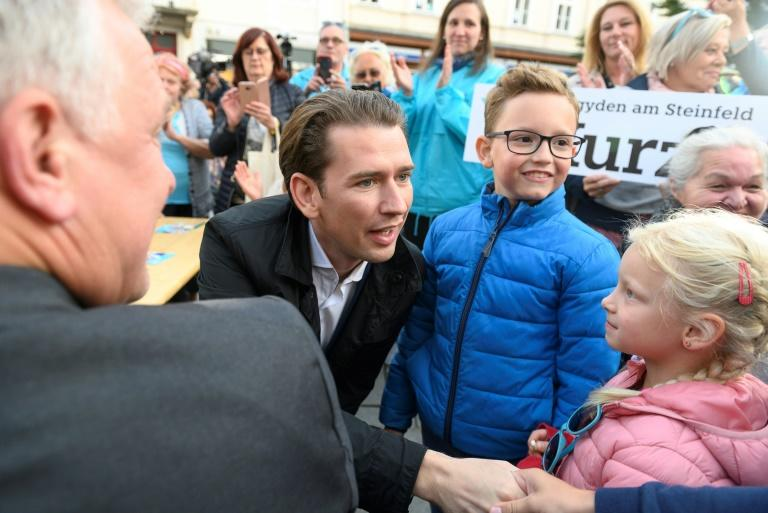 Austrian People's Party (OeVP) head Sebastian Kurz is firing up his supporters and opponents ahead of a snap election September 29 (AFP Photo/JOE KLAMAR)