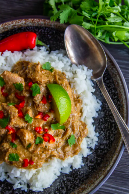 """<p>Get the<a href=""""https://www.slowcookerclub.com/slow-cooker-chicken-satay-curry/"""" rel=""""nofollow noopener"""" target=""""_blank"""" data-ylk=""""slk:Slow Cooker Chicken Satay Curry"""" class=""""link rapid-noclick-resp""""> Slow Cooker Chicken Satay Curry</a> recipe.</p><p>Recipe from <a href=""""https://www.slowcookerclub.com/"""" rel=""""nofollow noopener"""" target=""""_blank"""" data-ylk=""""slk:Slow Cooker Club"""" class=""""link rapid-noclick-resp"""">Slow Cooker Club</a>. </p>"""