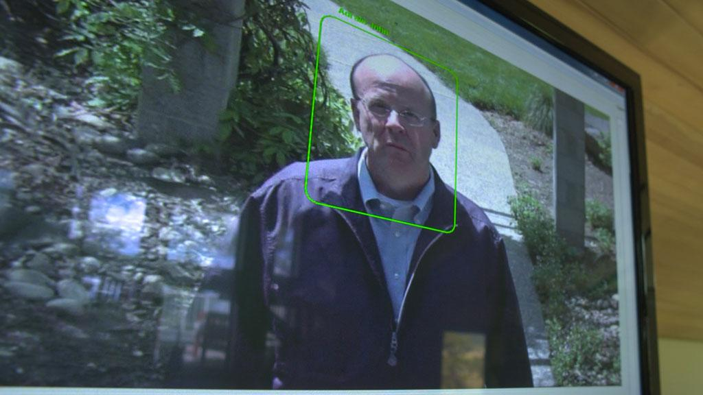 Pacific Northwest - John Adrain has facial recognition software protecting his front door.