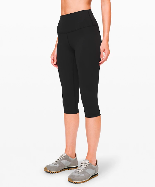 """<h3><a href=""""https://shop.lululemon.com/p/women-crops/Wunder-Under-Hi-Flux-MD/_/prod8720143"""" rel=""""nofollow noopener"""" target=""""_blank"""" data-ylk=""""slk:Lululemon High-Rise Leggings"""" class=""""link rapid-noclick-resp"""">Lululemon High-Rise Leggings</a></h3><br>Another pair of <a href=""""https://refinery29.com/en-us/travel-outfits#slide-11"""" rel=""""nofollow noopener"""" target=""""_blank"""" data-ylk=""""slk:black leggings our readers swear by"""" class=""""link rapid-noclick-resp"""">black leggings our readers swear by</a>? <a href=""""https://www.refinery29.com/en-us/2019/11/8879931/lululemon-sale-black-friday-deals-2019"""" rel=""""nofollow noopener"""" target=""""_blank"""" data-ylk=""""slk:Lululemon's"""" class=""""link rapid-noclick-resp"""">Lululemon's</a> — and it just so happens this top-carted pair is currently over 30% off (but selling fast, so be sure to check out <a href=""""https://shop.lululemon.com/c/women/_/N-1z13zi2Z7vf"""" rel=""""nofollow noopener"""" target=""""_blank"""" data-ylk=""""slk:the other slashed-price styles"""" class=""""link rapid-noclick-resp"""">the other slashed-price styles</a>). <br><br><strong>lululemon</strong> Wunder Under High-Rise 1/2 Tight, $, available at <a href=""""https://shop.lululemon.com/p/women-crops/Wunder-Under-Hi-Flux-MD/_/prod8720143"""" rel=""""nofollow noopener"""" target=""""_blank"""" data-ylk=""""slk:lululemon"""" class=""""link rapid-noclick-resp"""">lululemon</a>"""