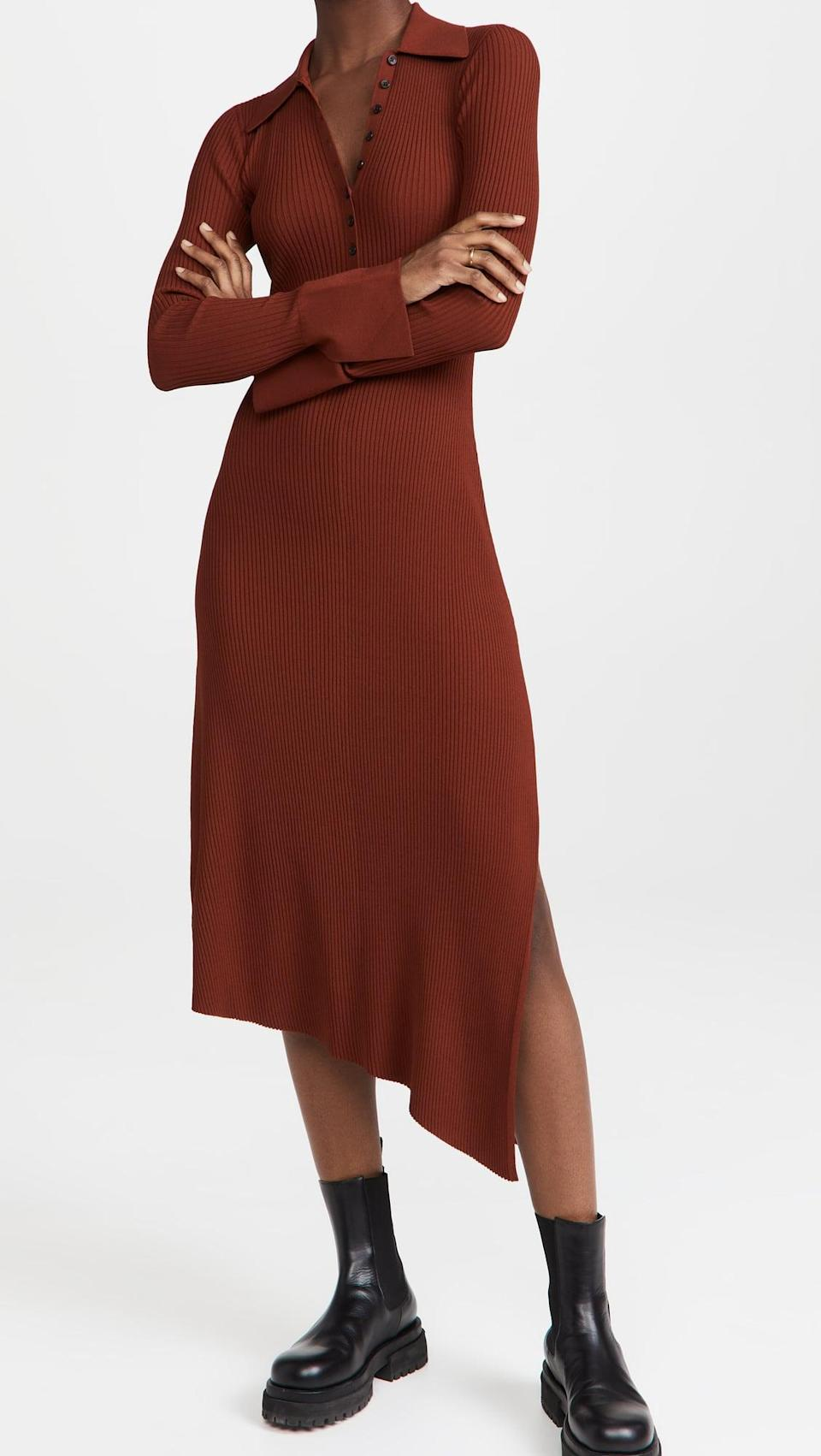 <p>This <span>A.L.C. Lance Dress</span> ($495) has a cute collar and button down at the chest. We love it paired with chunky boots.</p>