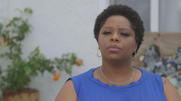 Patrisse Cullors, co-founder of Black Lives Matter and chair of Reform L.A. Jails, is seen here during an interview for 'Nightline.' (ABC News)