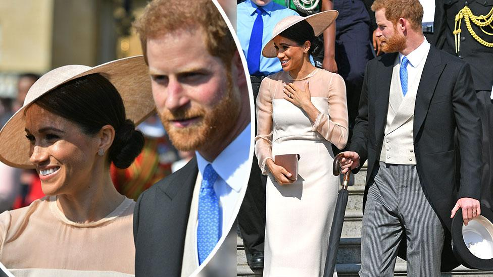 <p>Inside their first official royal engagement as man and wife. </p>