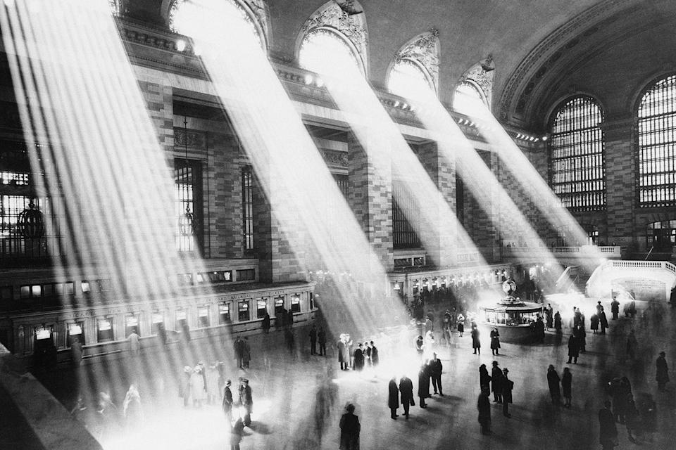 "<p>Beams of sunlight streaming through the windows at <a href=""https://www.tripadvisor.com/Attraction_Review-g60763-d103371-Reviews-Grand_Central_Terminal-New_York_City_New_York.html"" rel=""nofollow noopener"" target=""_blank"" data-ylk=""slk:Grand Central Station"" class=""link rapid-noclick-resp"">Grand Central Station</a>.</p>"