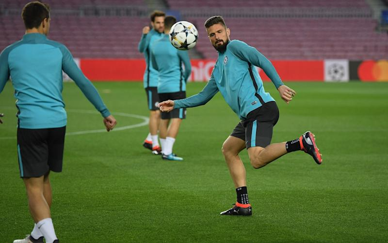 Olivier Giroudseems certain to start for Chelsea against Barcelona as Antonio Conte opts for a conventional central striker - Chelsea FC