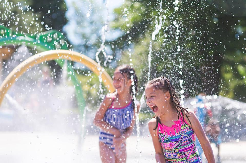 """<p>The fact that most water play areas are intended for kids is just a technicality. At a theme park, you get to be a kid, too! When you're hot and sweaty, head straight for the nearest splash pad or <a href=""""https://www.popsugar.com/family/best-playgrounds-play-areas-at-walt-disney-world-47282725"""" class=""""link rapid-noclick-resp"""" rel=""""nofollow noopener"""" target=""""_blank"""" data-ylk=""""slk:water playground"""">water playground</a> to cool off.</p>"""