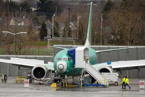 PHOTO: A Boeing Co. 737 Max 8 plane is seen at the company's manufacturing facility in Renton, Washington, March 12, 2019. (Bloomberg via Getty Images, FILE)