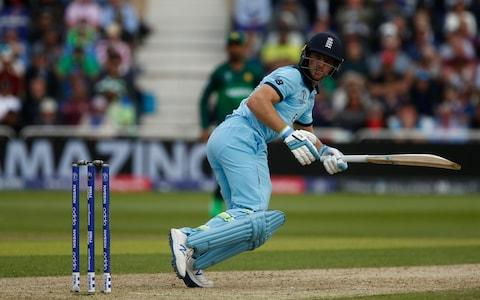 ICC World Cup Cricket, England versus Pakistan; England batsman Jos Buttler on his way to a half century - Credit: Getty Images