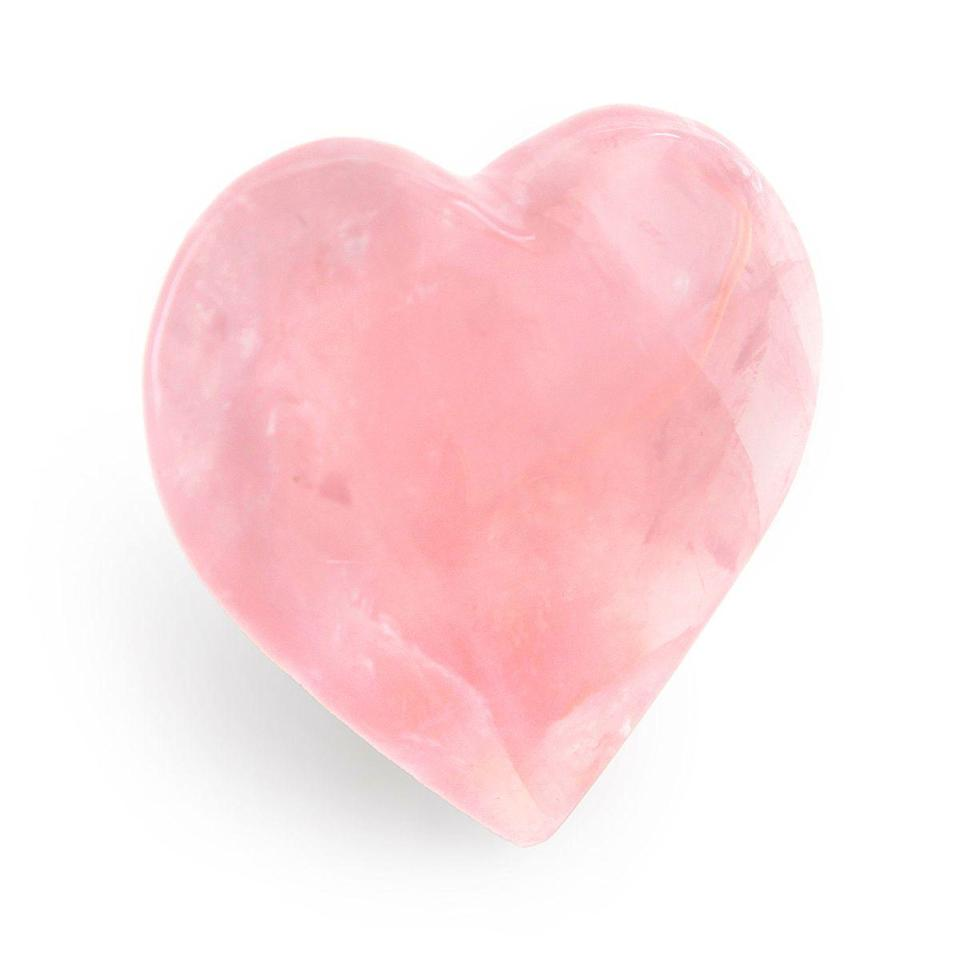 "<p>moonrisecrystals.com</p><p><strong>$28.50</strong></p><p><a href=""https://moonrisecrystals.com/tumbled-stones/rose-quartz-heart/"" rel=""nofollow noopener"" target=""_blank"" data-ylk=""slk:Shop Now"" class=""link rapid-noclick-resp"">Shop Now</a></p><p>This beloved pink beauty soothes the heart and brings a gentle energy of self-care.</p>"