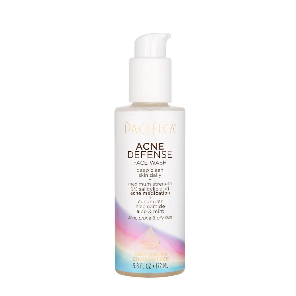 <p><span>Pacifica Beauty Acne Defense Face Wash</span> ($10) is formulated with maximum-strength salicylic acid to help deep clean pores.</p>