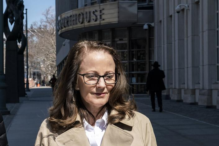 Kathy Russell leaves the Federal Courthouse in Brooklyn on March 18, 2019. | Natan Dvir—Polaris