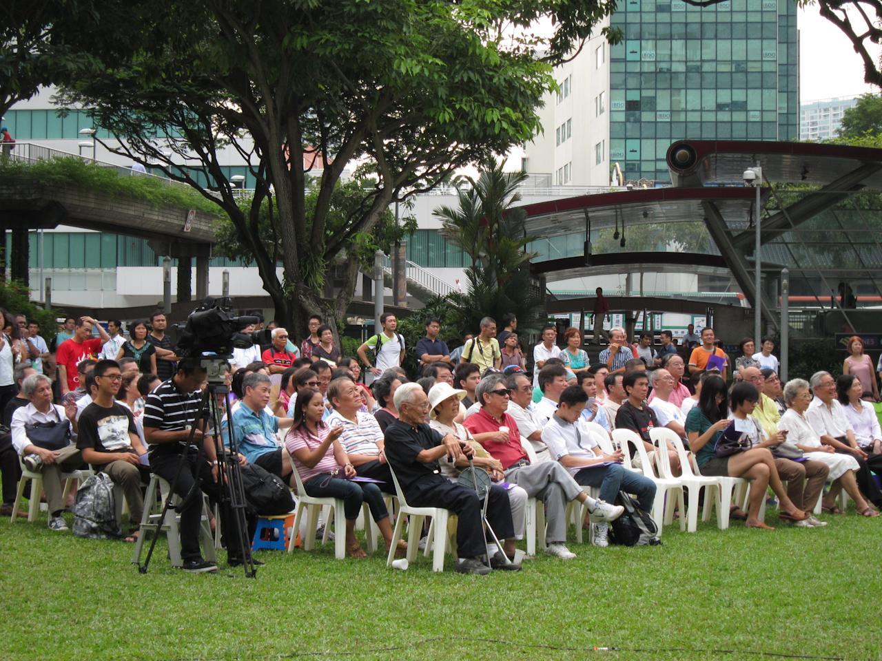 The crowd present at the event.